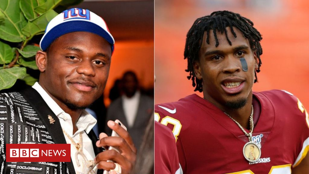 Photo of NFL's Deandre Baker and Quinton Dunbar surrender after robbery charge