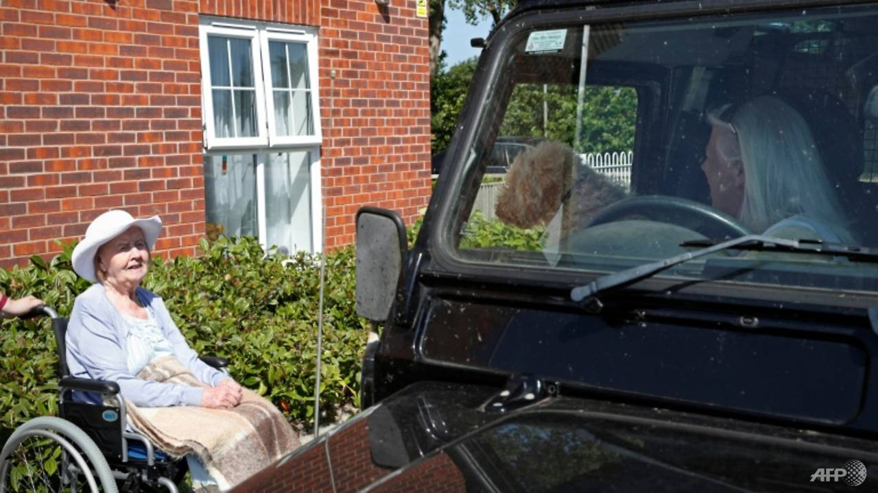 Photo of Drive-through UK care home visits for socially distant times