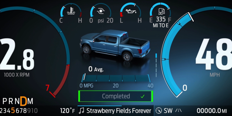 Photo of This is what the new Ford F-150 display and infotainment looks like