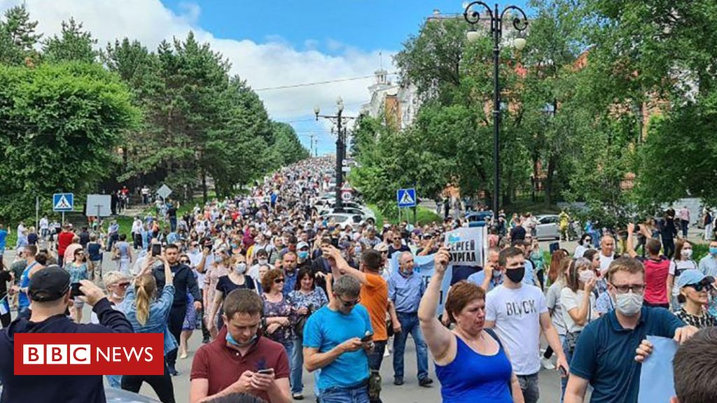Photo of Russia far east protest over Khabarovsk governor's arrest