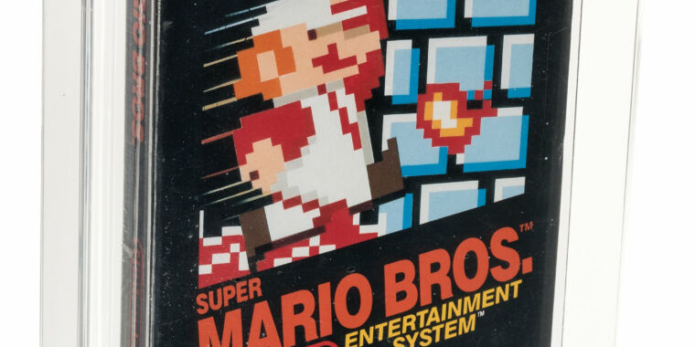 Photo of Why is this copy of Super Mario Bros. worth a record $114,000?