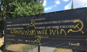 Photo of Vandalism of Memorial to Victims of Communism Site in Ottawa Draws Condemnation