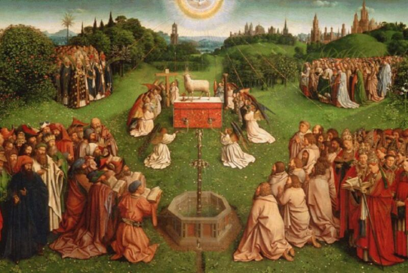 Photo of We can see the true face of Van Eyck Lamb of God after latest restoration