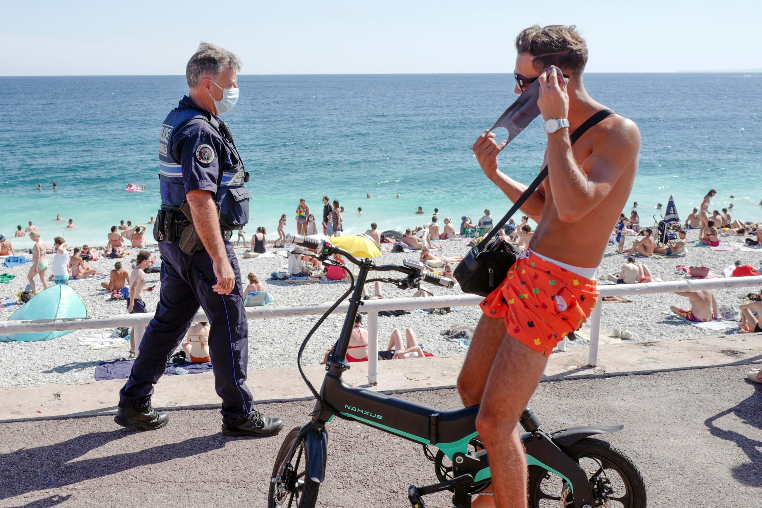 Photo of Police in Nice use camera technology to shout at people who break coronavirus rules