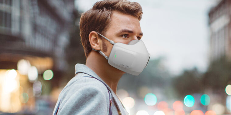 """Photo of LGs battery-powered face mask will """"make breathing effortless"""""""