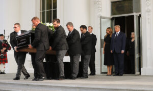 Photo of Funeral for Presidents Brother, Robert Trump, Held at White House