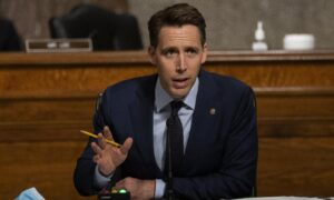 Photo of Sen. Hawley Questions White Privilege Training at US Nuclear Lab