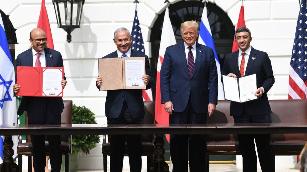 Photo of Trump hails 'dawn of new Middle East' with UAE-Bahrain-Israel deals