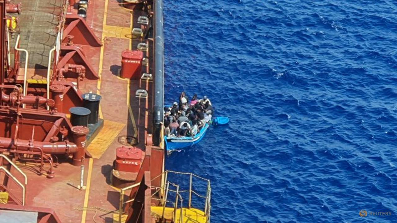 Photo of Migrants transferred from Maersk tanker after more than month at sea