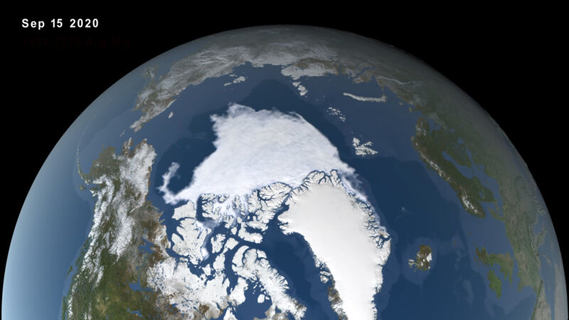 Photo of Arctic sea ice hits 2nd smallest summer extent on record