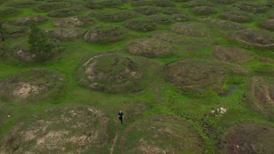 Photo of Siberia landscape scarred by climate change
