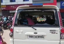 Photo of Bengal BJP Chief Ghosh's Convoy Attacked Allegedly By TMC Goons, 2nd Attack In 2 Weeks